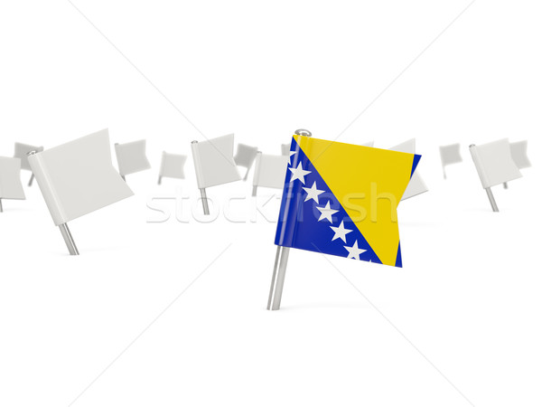 Cuadrados pin bandera Bosnia Herzegovina aislado blanco Foto stock © MikhailMishchenko