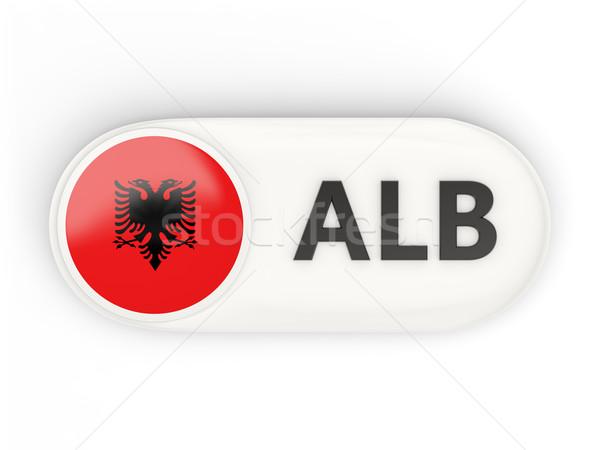 Round icon with flag of albania Stock photo © MikhailMishchenko