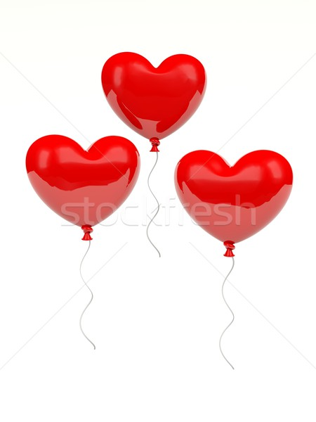 Heart shaped air balloons Stock photo © MikhailMishchenko