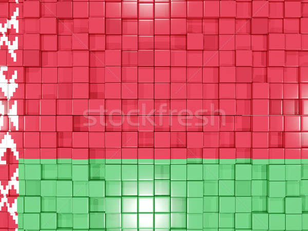 Background with square parts. Flag of belarus. 3D illustration Stock photo © MikhailMishchenko