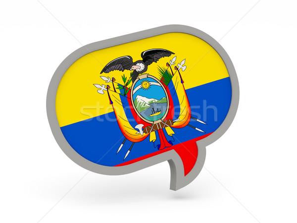 Chat icon with flag of ecuador Stock photo © MikhailMishchenko