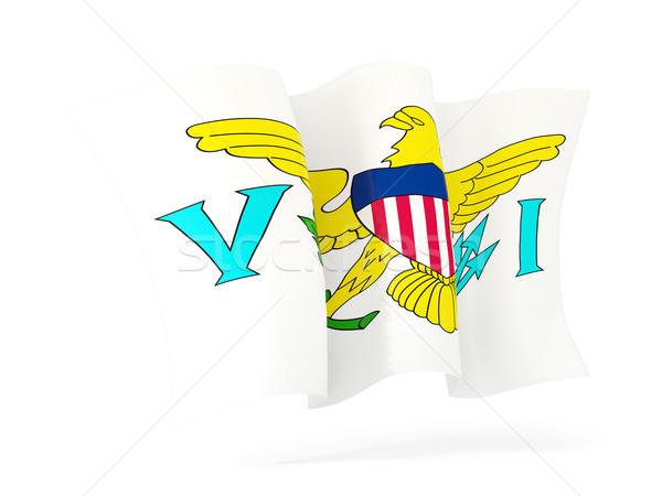 Waving flag of virgin islands us. 3D illustration Stock photo © MikhailMishchenko