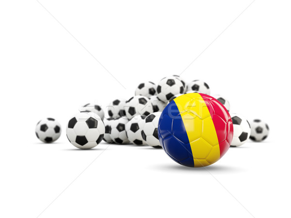 Football with flag of chad isolated on white Stock photo © MikhailMishchenko
