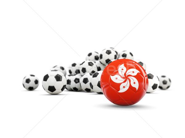 Football with flag of hong kong isolated on white Stock photo © MikhailMishchenko