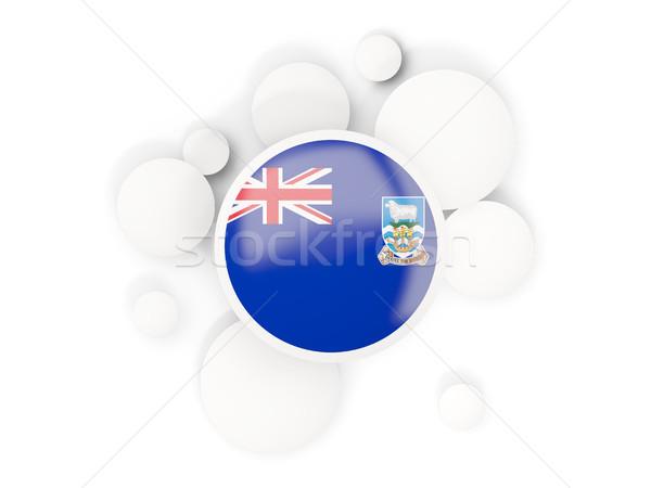 Zászló Falkland-szigetek körök minta izolált fehér Stock fotó © MikhailMishchenko