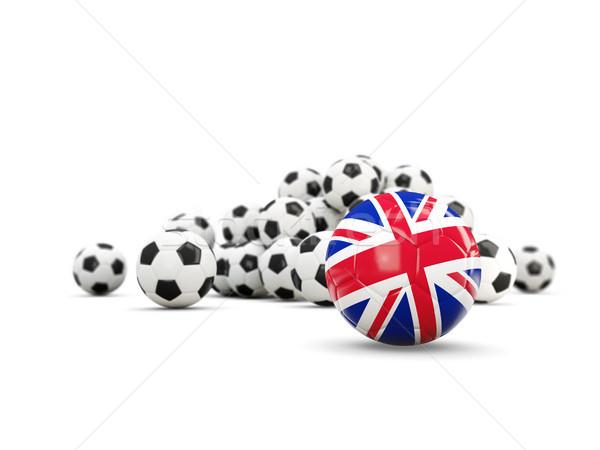 Fútbol bandera reino aislado blanco 3d Foto stock © MikhailMishchenko