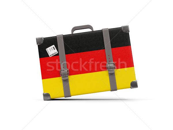 荷物 フラグ ドイツ スーツケース 孤立した 白 ストックフォト © MikhailMishchenko