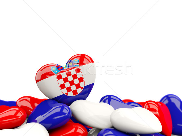 Corazón bandera Croacia superior corazones aislado Foto stock © MikhailMishchenko