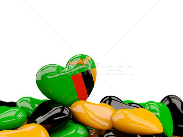 сердце флаг Замбия Top сердцах изолированный Сток-фото © MikhailMishchenko