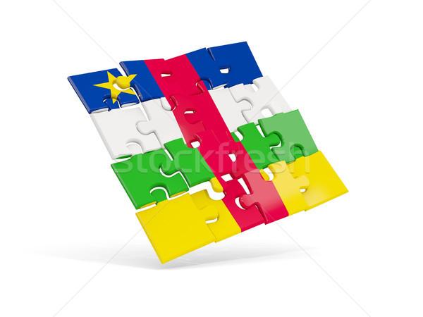 головоломки флаг центральный африканских республика изолированный Сток-фото © MikhailMishchenko
