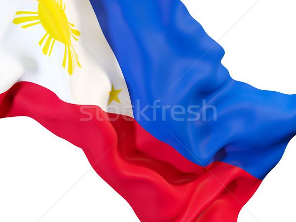Waving flag of philippines Stock photo © MikhailMishchenko