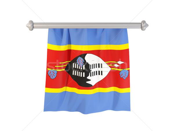 Banderą Suazi odizolowany biały 3d ilustracji etykiety Zdjęcia stock © MikhailMishchenko