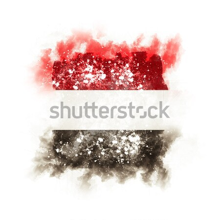 Placu grunge banderą Luksemburg 3d ilustracji retro Zdjęcia stock © MikhailMishchenko