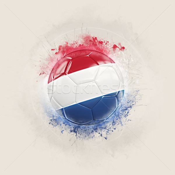 Grunge fútbol bandera Países Bajos 3d fútbol Foto stock © MikhailMishchenko