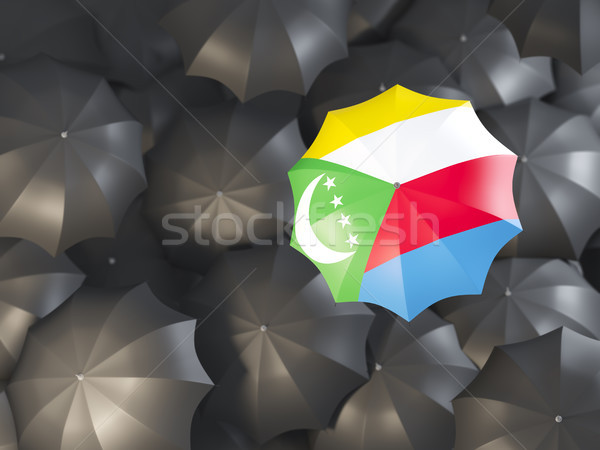 Umbrella with flag of comoros Stock photo © MikhailMishchenko
