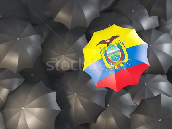 Umbrella with flag of ecuador Stock photo © MikhailMishchenko