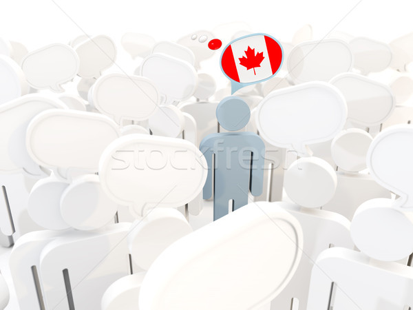 Férfi zászló Kanada tömeg 3d illusztráció felirat Stock fotó © MikhailMishchenko