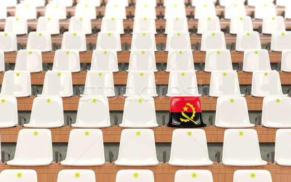 Stadium seat with flag of angola Stock photo © MikhailMishchenko