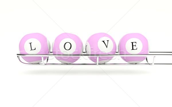 Lottery balls with sign love Stock photo © MikhailMishchenko