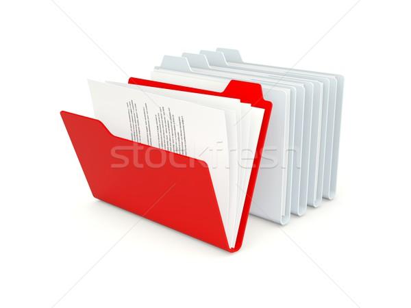 Zdjęcia stock: Rząd · inny · czerwony · jeden · odizolowany