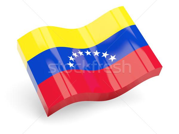 3D vlag Venezuela geïsoleerd witte reizen Stockfoto © MikhailMishchenko
