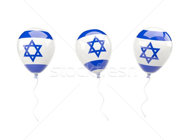 Hava balonlar bayrak İsrail yalıtılmış beyaz Stok fotoğraf © MikhailMishchenko