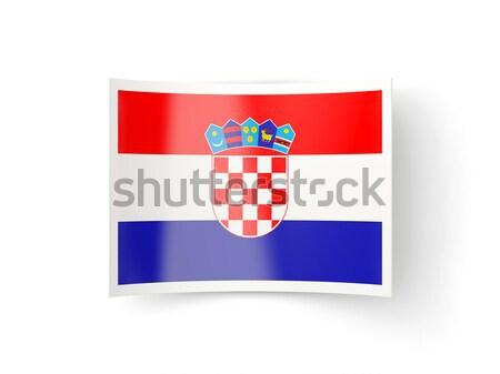 Foto d'archivio: Icona · Croazia · isolato · bianco · mail