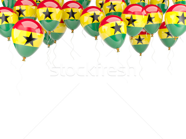 шаре кадр флаг Гана изолированный белый Сток-фото © MikhailMishchenko