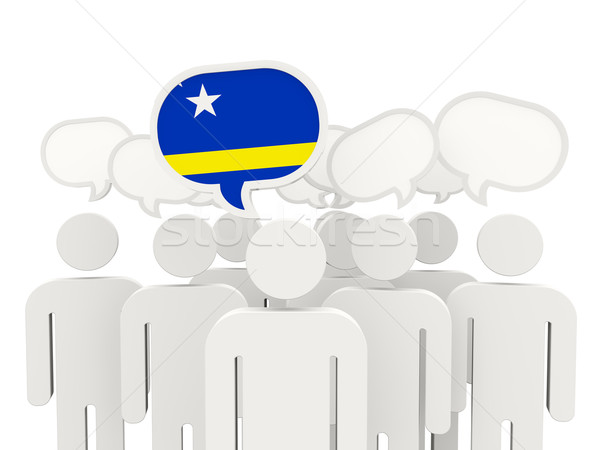 People with flag of curacao Stock photo © MikhailMishchenko