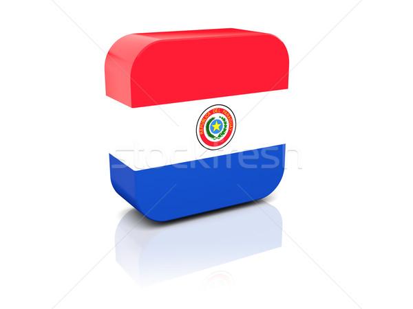Square icon with flag of paraguay Stock photo © MikhailMishchenko