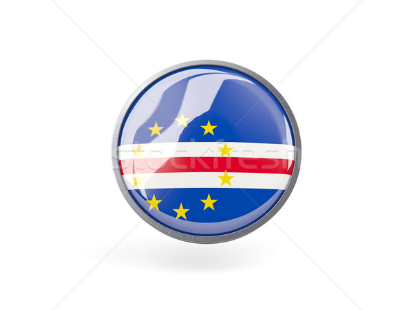 Round icon with flag of cape verde Stock photo © MikhailMishchenko