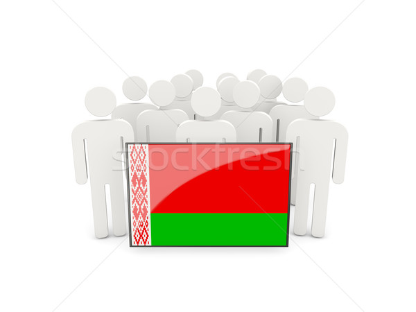 People with flag of belarus Stock photo © MikhailMishchenko