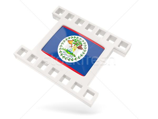 Film ikon zászló Belize izolált fehér Stock fotó © MikhailMishchenko