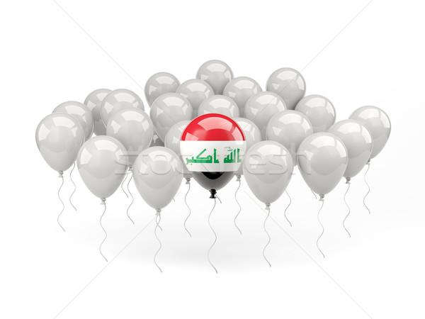 Lucht ballonnen vlag Irak geïsoleerd witte Stockfoto © MikhailMishchenko