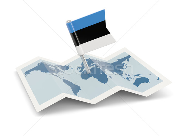 Map with flag of estonia Stock photo © MikhailMishchenko