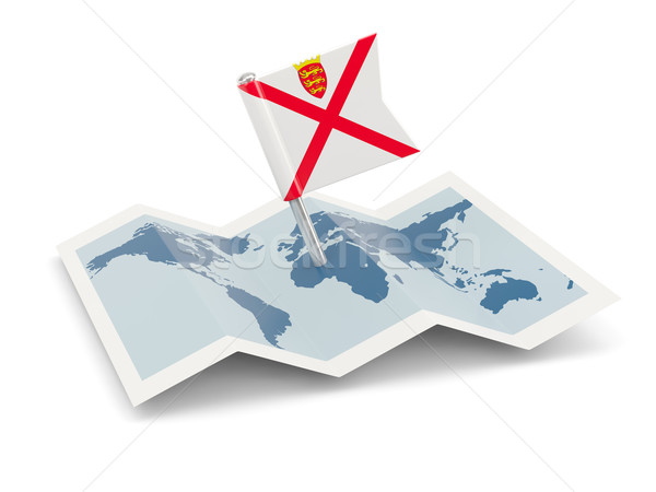 Map with flag of jersey Stock photo © MikhailMishchenko