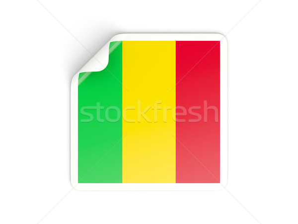 Square sticker with flag of mali Stock photo © MikhailMishchenko
