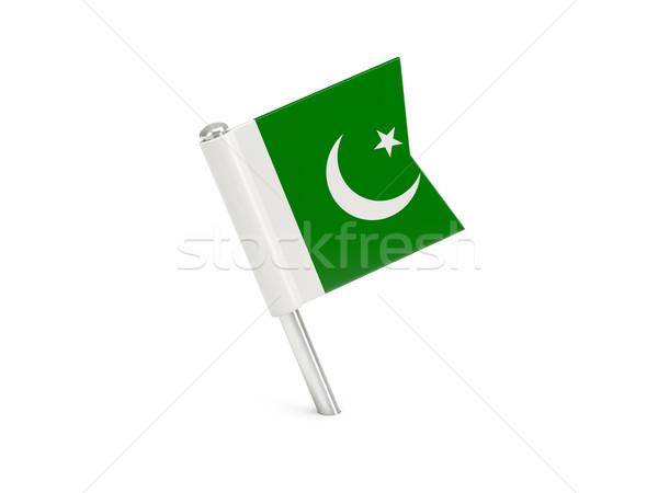 Zászló tő Pakisztán izolált fehér Stock fotó © MikhailMishchenko