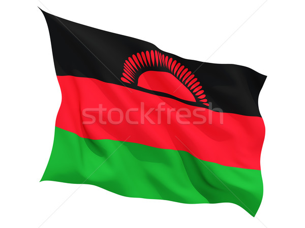 Waving flag of malawi Stock photo © MikhailMishchenko