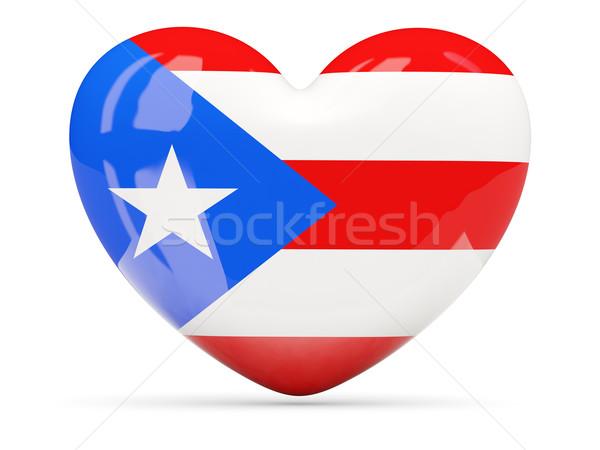 Hart icon vlag Puerto Rico geïsoleerd Stockfoto © MikhailMishchenko