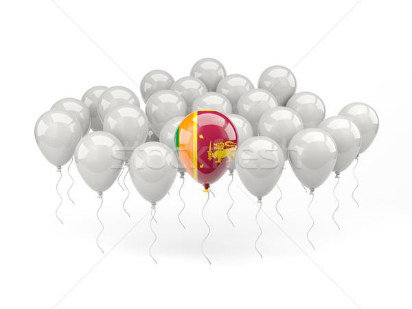 Powietrza balony banderą Sri Lanka odizolowany biały Zdjęcia stock © MikhailMishchenko