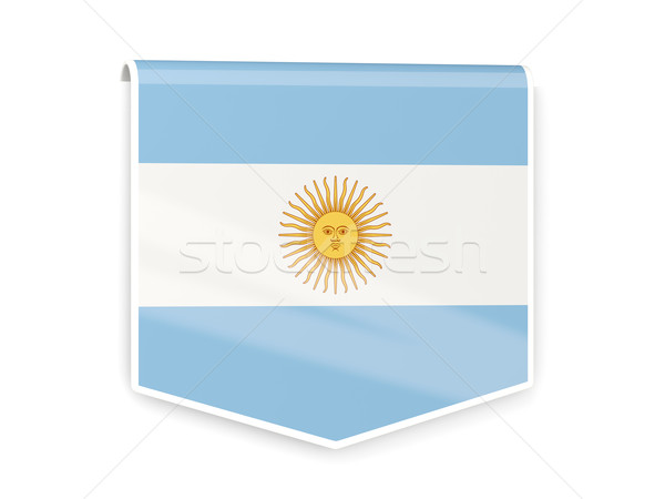 Photo stock: Pavillon · étiquette · Argentine · isolé · blanche · signe