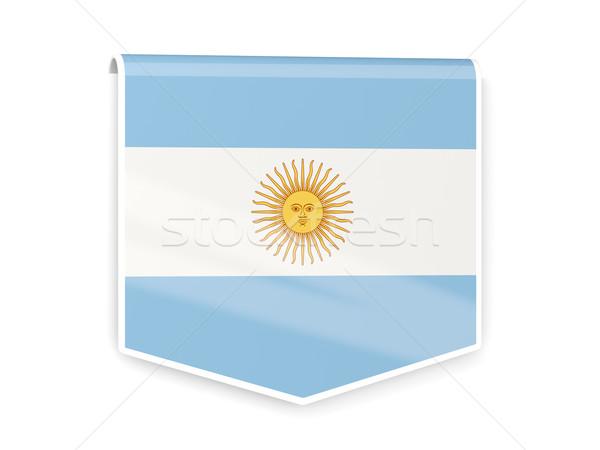 Bandeira etiqueta Argentina isolado branco assinar Foto stock © MikhailMishchenko