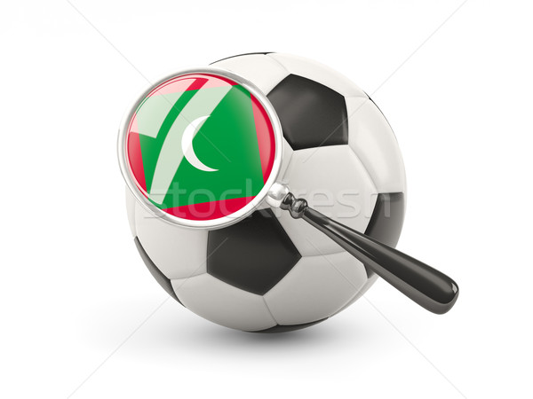 Football with magnified flag of maldives Stock photo © MikhailMishchenko