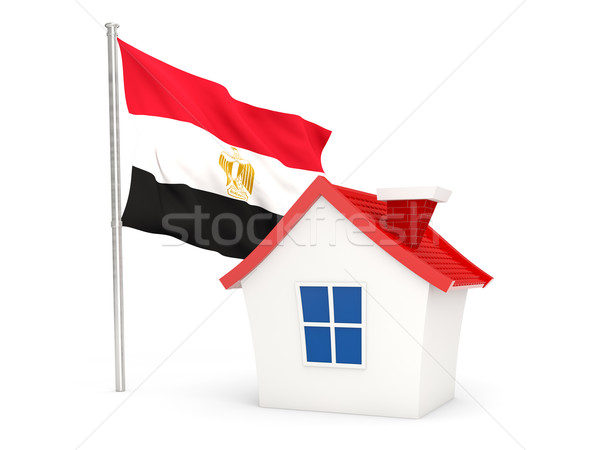 House with flag of egypt Stock photo © MikhailMishchenko
