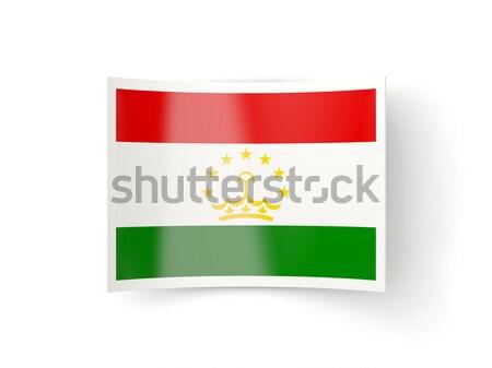 Square icon with flag of tajikistan Stock photo © MikhailMishchenko