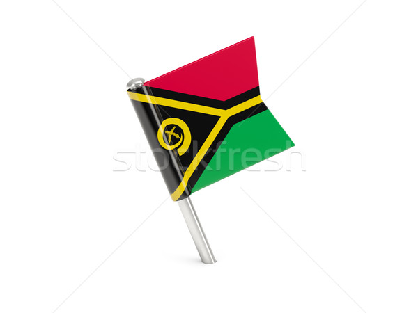 Bandeira pin Vanuatu isolado branco Foto stock © MikhailMishchenko