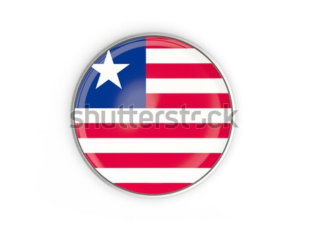 ícone bandeira Libéria assinar branco Foto stock © MikhailMishchenko