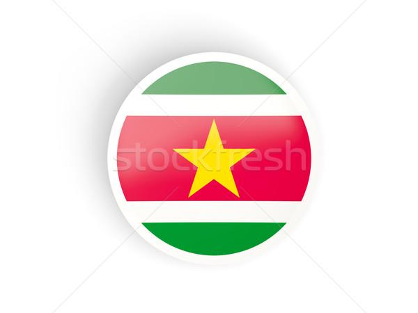 наклейку флаг Суринам изолированный белый путешествия Сток-фото © MikhailMishchenko