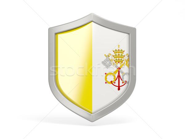 щит икона флаг Ватикан изолированный белый Сток-фото © MikhailMishchenko